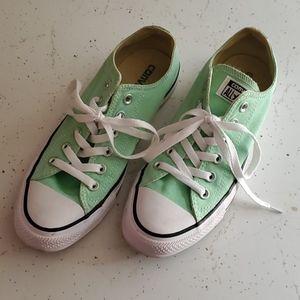Converse Allstars Mint Green Lowtops